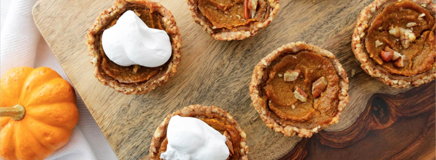 RECIPE – Pumpkin Pie Tarts with Coconut Whipped Cream